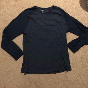 Men's waffleknit navy shirt